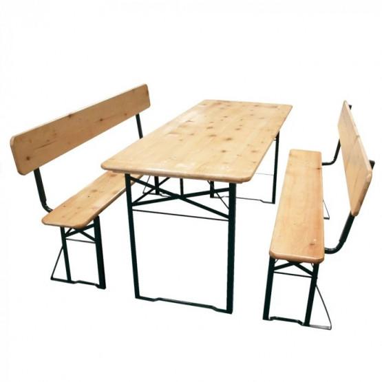 Бирен сет TLW011-А1 маса с две пейки