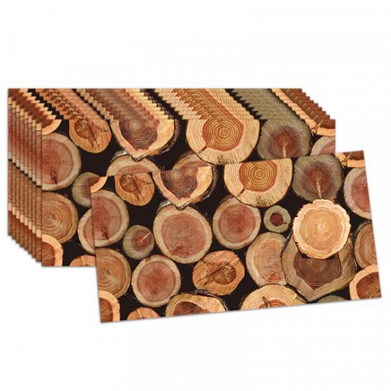 Топлоизолационно пано 30x60x1.5 сm Дървени трупи