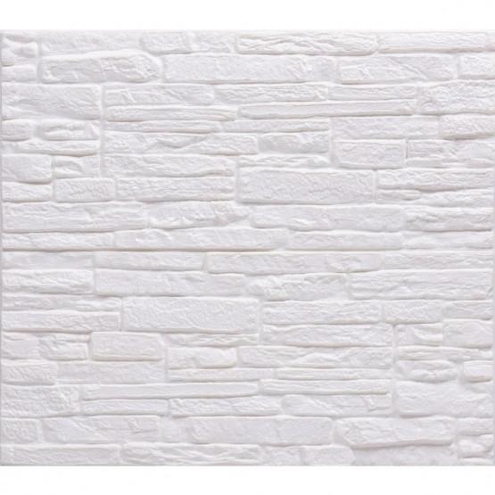 Топлоизолационно самозалепващо пано Cultural Stone A 70x60x1.2 сm бяло