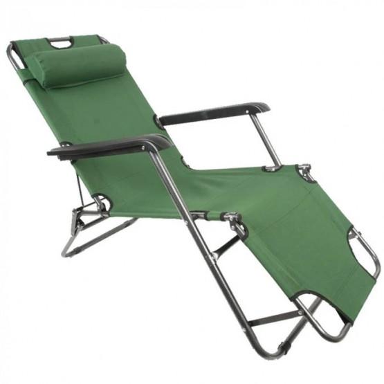 Функционален плажен стол TLH-3068G зелен