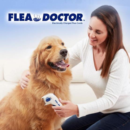 Електрически гребен Flea Doctor против бълхи за домашни любимци