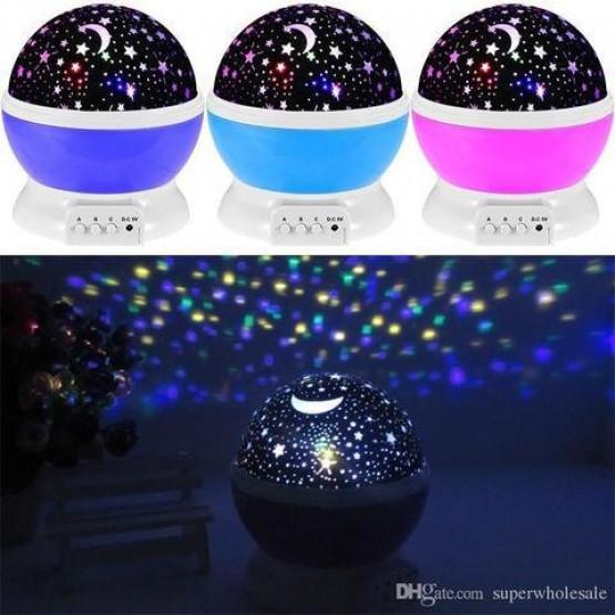 Проектор Star Master, 4 x LED, USB, функция на въртене