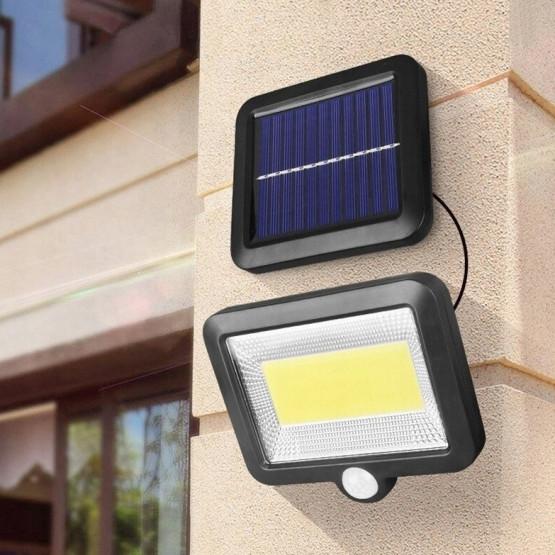 Водоустойчива соларна LED лампа + Сензор за движение