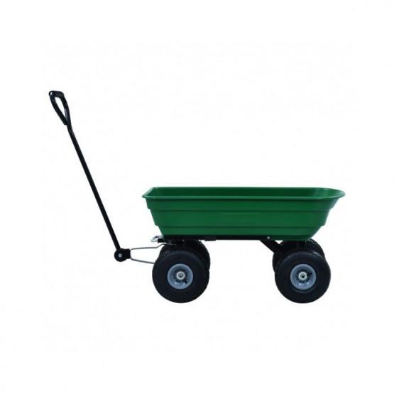 Градинска PVC количка 108x52x98см голяма гума 75л