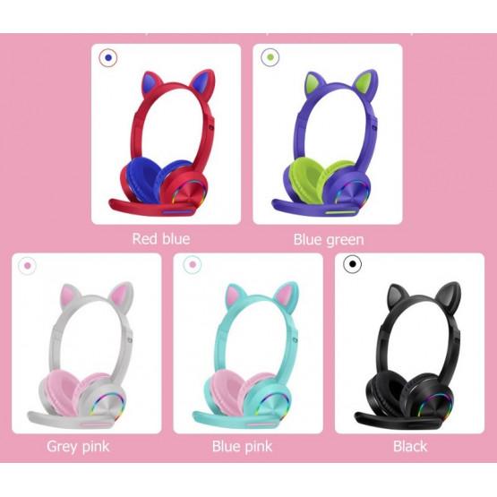 Детски безжични слушалки с котешки ушички