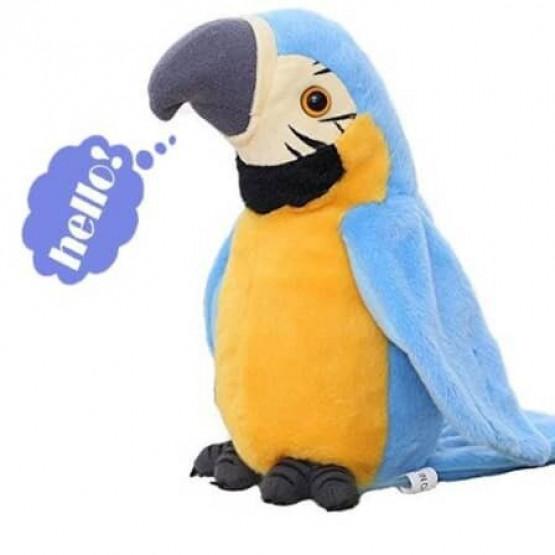 Плюшен говорещ папагал