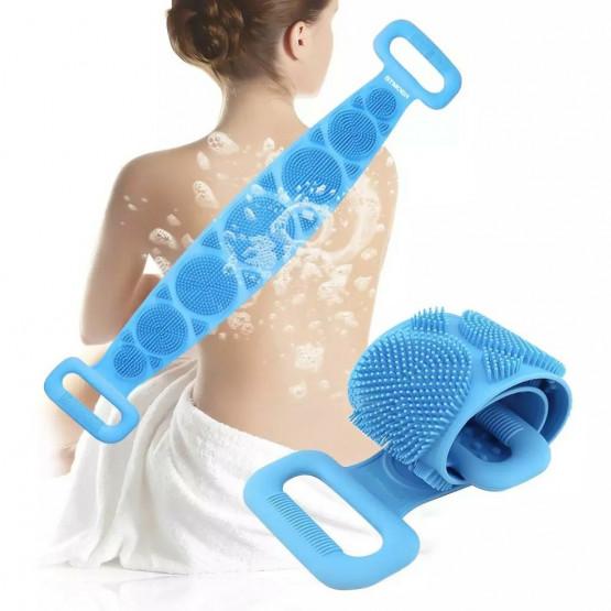 Ексфолираща силиконова гъба за баня за триене на гърба